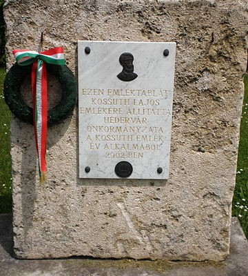 Kossuth Lajos emléktábla