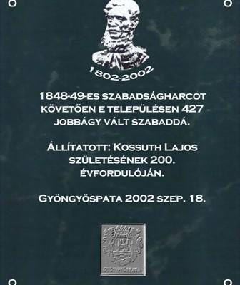 Kossuth emléktábla