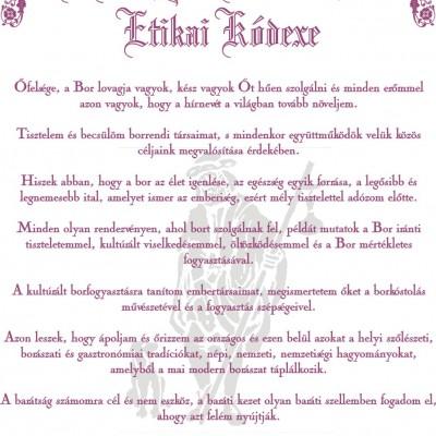 borrend etikai kódex
